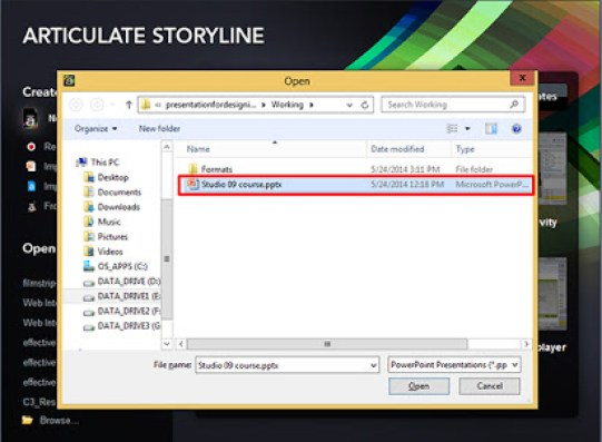 Articulate Storyline windows