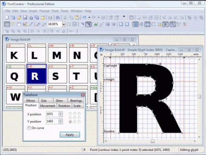 High-Logic FontCreator Professional Edition windows