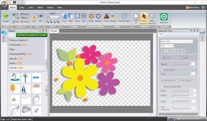 Summitsoft Graphic Design Studio windows
