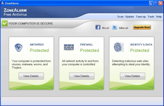 ZoneAlarm Free Antivirus windows