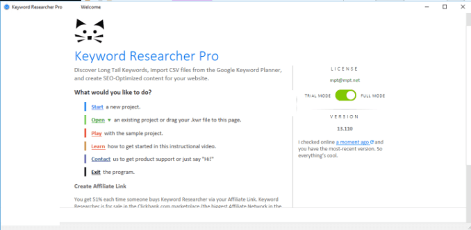 Keyword Researcher Pro windows