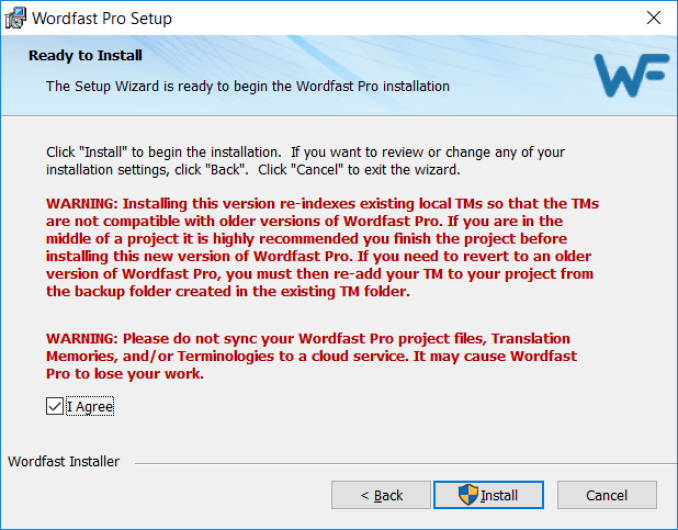 Wordfast Pro windows