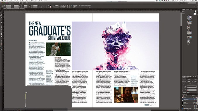 Adobe InDesign windows