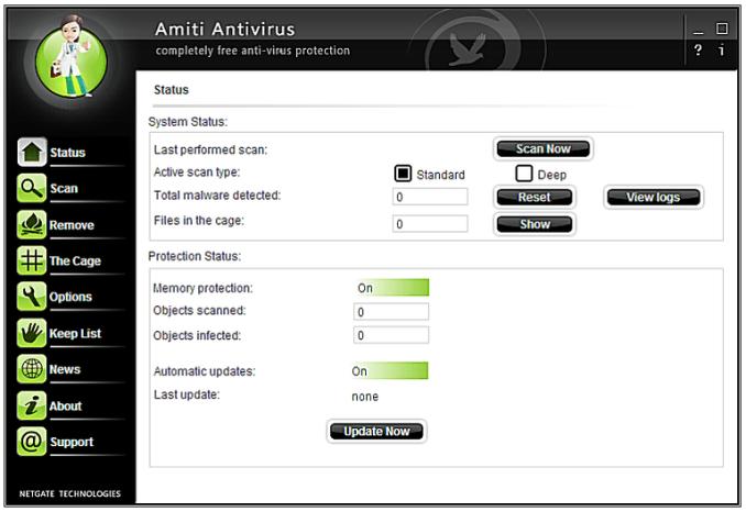 NETGATE Amiti Antivirus latest version