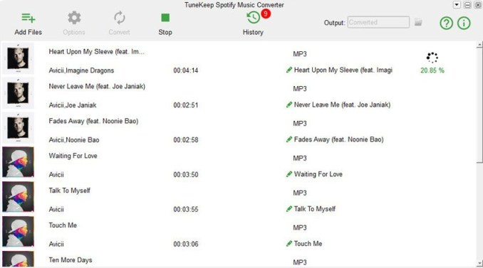 TuneKeep Spotify Music Converter windows