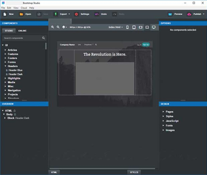 Bootstrap Studio Professional latest version