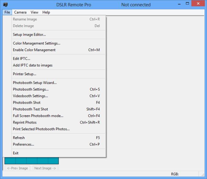 DSLR Remote Pro windows