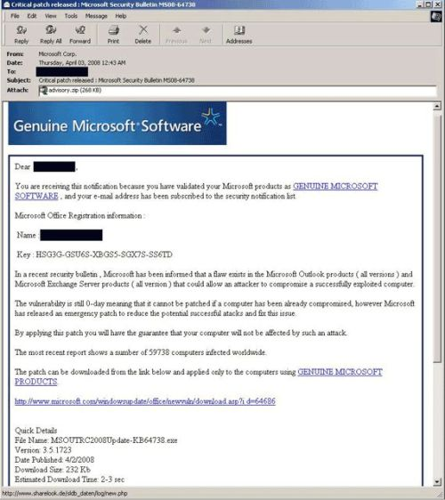Microsoft SPAM