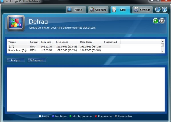 PC Health Advisor Defrag