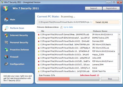 How to Remove Win 7 Security 2011