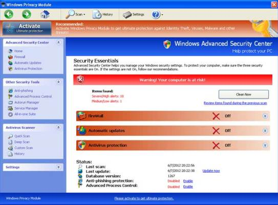 Windows privacy module