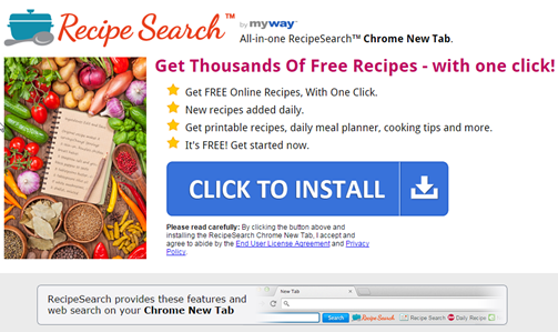 Recipe Search Toolbar Removal