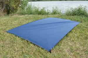 blue ground cover tarp