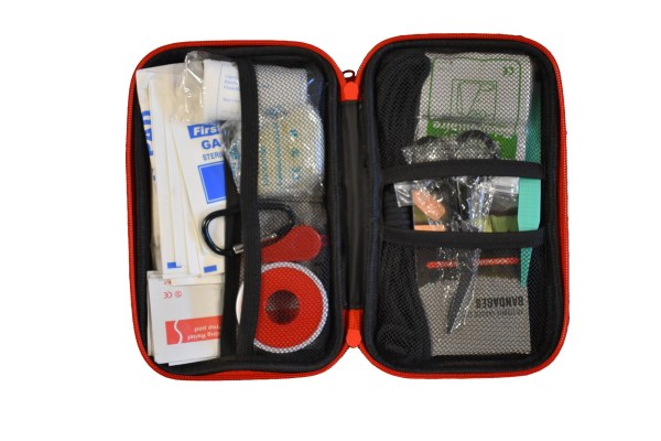 large first aid kit open