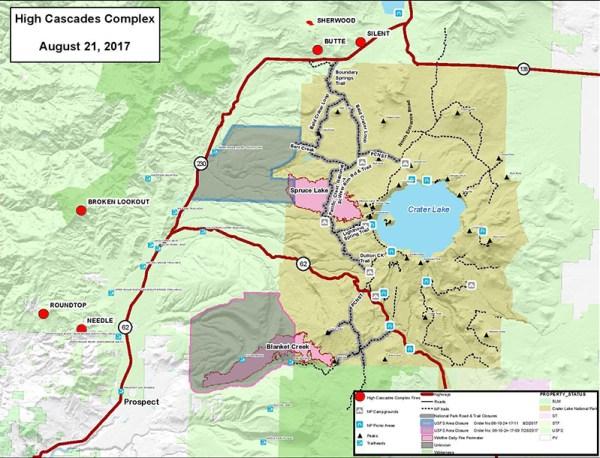 high cascades map