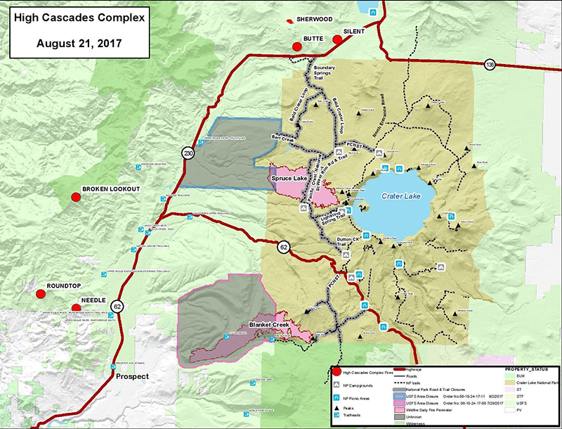 high cascades map