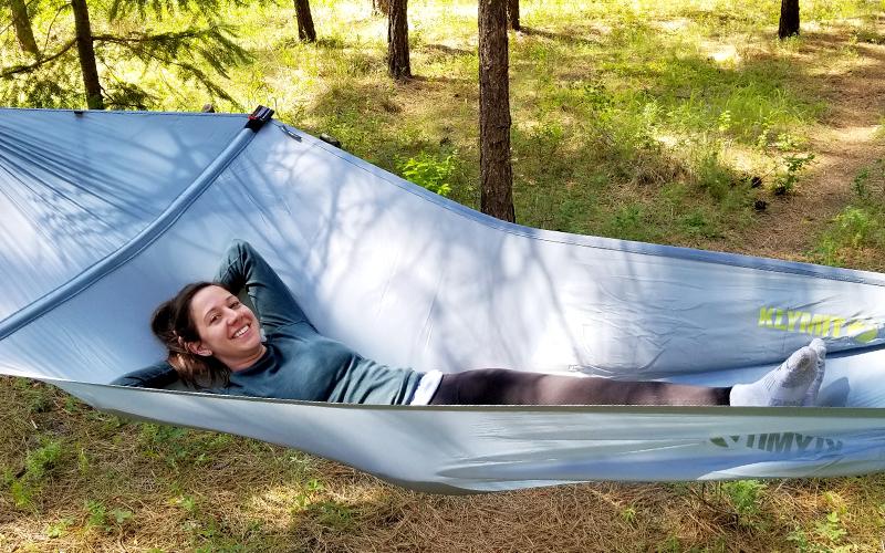 klymit layflat hammock camping