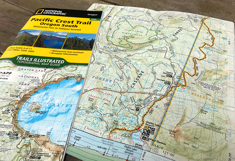 national geographic trails illustrated pct maps