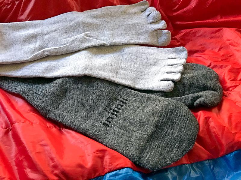Injinji liner-hiker crew socks