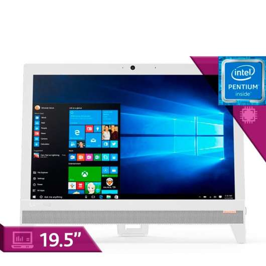 Lenovo All in one Ideacentre AIO Intel J4205, Ram 8gb dd 1TB, 19.5 Pulgadas-310-20IAP Blanco