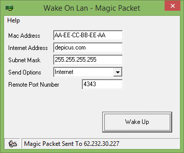 wol gui by magic packet