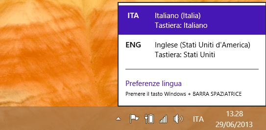 cambiare lingua su Windows