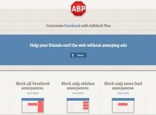 in questa immagine è presente lo screen del sito adblock plus per facebook