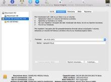 in questa immagine è presente la schermata di un mac durante la formattazione di un disco esterno.