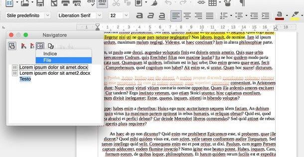 in questa immagine è presente un documento word che unisce due file