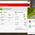 questa immagine mostra la schermata principale di un antivirus