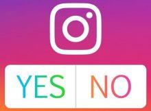 """Icona di Instagram e risposte """"Yes"""" e """"No"""" per sondaggi"""