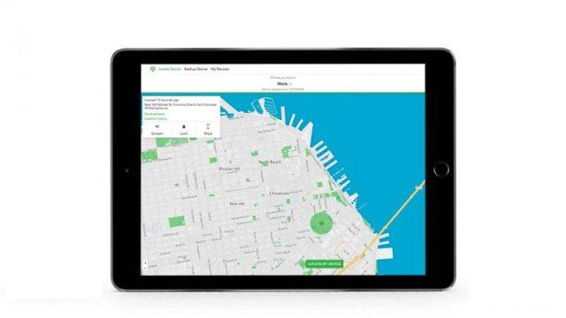 iPad con applicazione Lookout