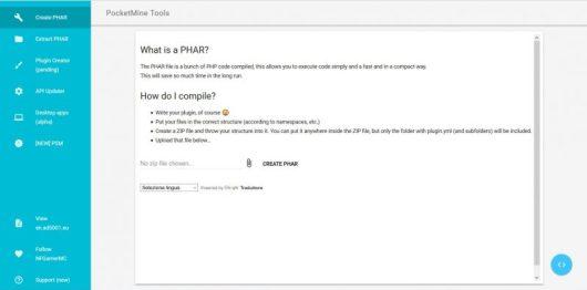PocketMine Tools, il sito per convertire file da JAR a PHP