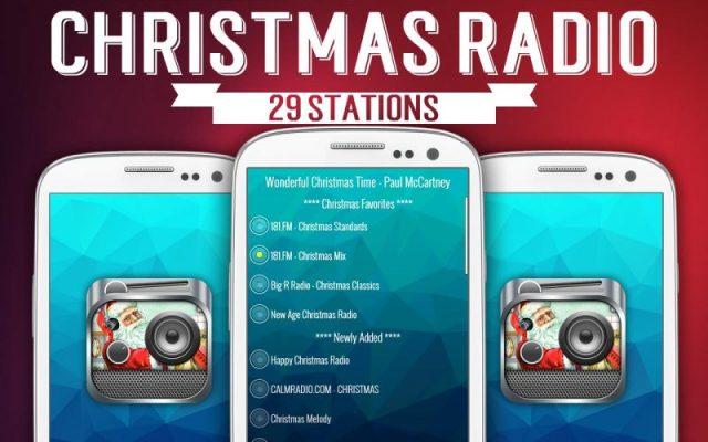 Cellulari con screenshot applicazione Radio Natale
