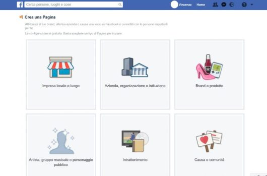 Categoria pagina Facebook per vedere chi ha visualizzato un video su Facebook