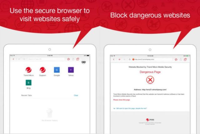 Screenshot dell'antivirus Trend Micro