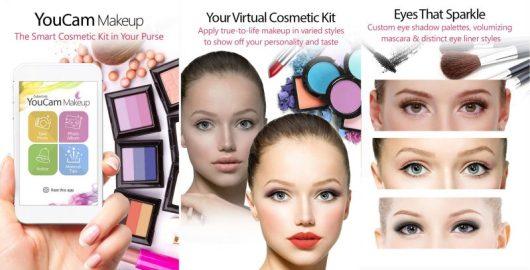 Schermate dell'app per truccarsi Youcam Makeup