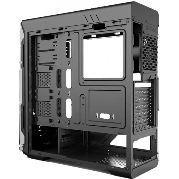 gabinete gamer gamemax optical g510 mid tower com 3 fans painel lateral black s fonte 87612