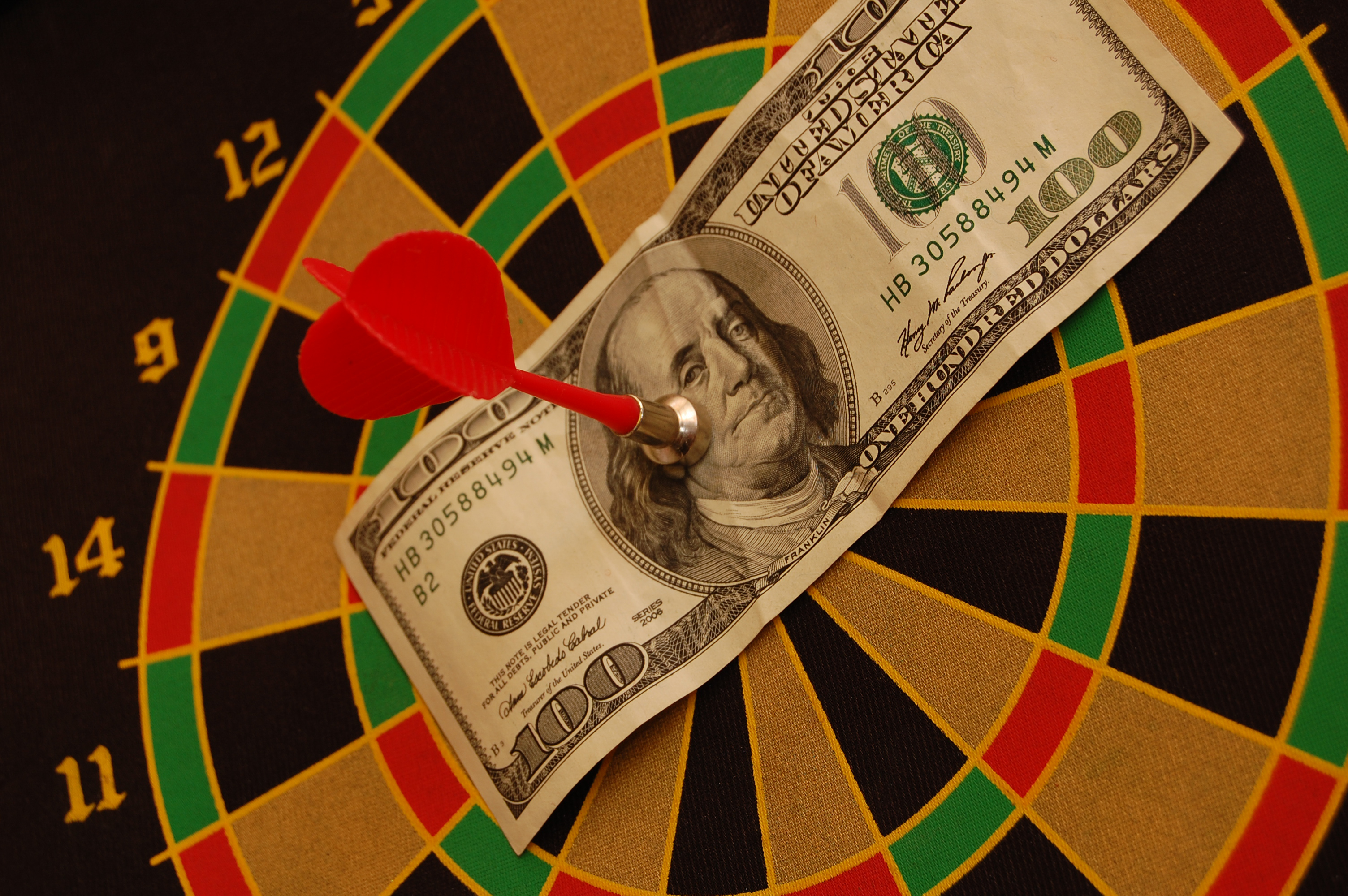 money on the bullseye