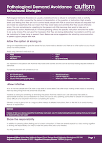 Behavioural Strategies: advice sheet