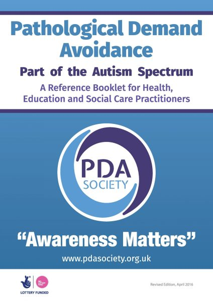 PDA Reference Booklet for Health, Education and Social Care Practitioners
