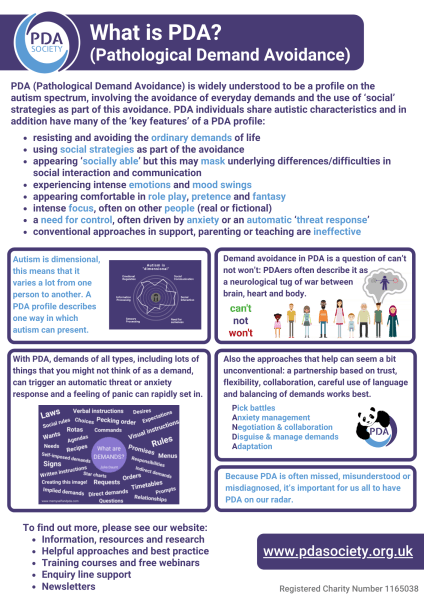 What is PDA? information sheet