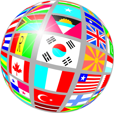 Globe flags world country countries