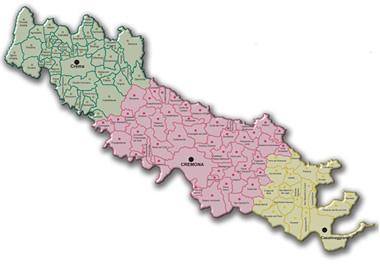 Cartina Geografica Cartina Comuni Della Provincia Di Cremona.Spazi Finanziari Oltre 11 Milioni Di Euro Per I Comuni Della Provincia Di Cremona
