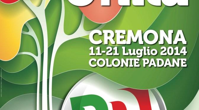 Al via la festa de l'Unità di Cremona, da venerdì 11 a lunedì 21 luglio alle colonie padane