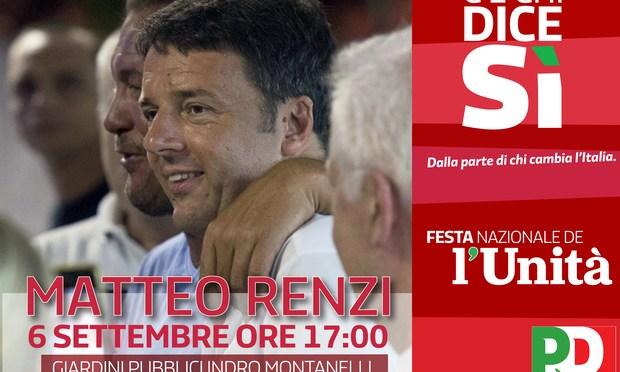 Domenica 6 settembre 2015 Matteo Renzi chiude a Milano la Festa nazionale de l'Unità.