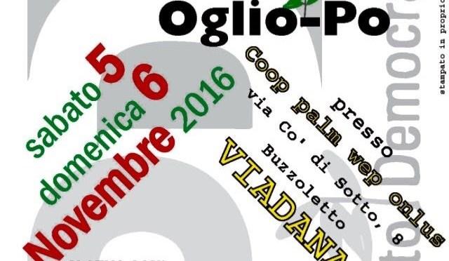 Festa de l'Unità dei circoli PD dell'Oglio-Po: Sabato 5 e domenica 6 novembre