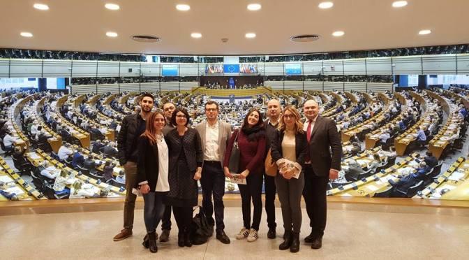 Una delegazione del PD cremonese in visita al Parlamento Europeo di Bruxelles