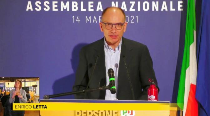 Enrico Letta eletto segretario dall'Assemblea Nazionale del Partito Democratico