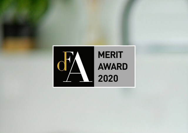 DFA merit award 2020 logo.